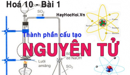 Cấu tạo của Nguyên tử, kích thước và khối lượng của Electron hạt nhân - hoá 10 bài 1